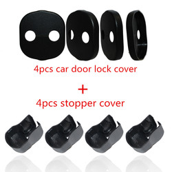 New Car Door Striker Cover Lock Protector + Stopper Buckle Case Cap Check Arm Cover For KIA K3 k5 Forte Sorento 2009-2012 2013