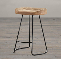 American style country solid wood bar stool high bar stool wood iron bar stool coffee chair