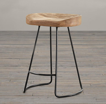 American style country solid wood bar stool high bar stool wood iron bar stool coffee chair modern home iron wood s bar chair stool fashion cafe bar stool