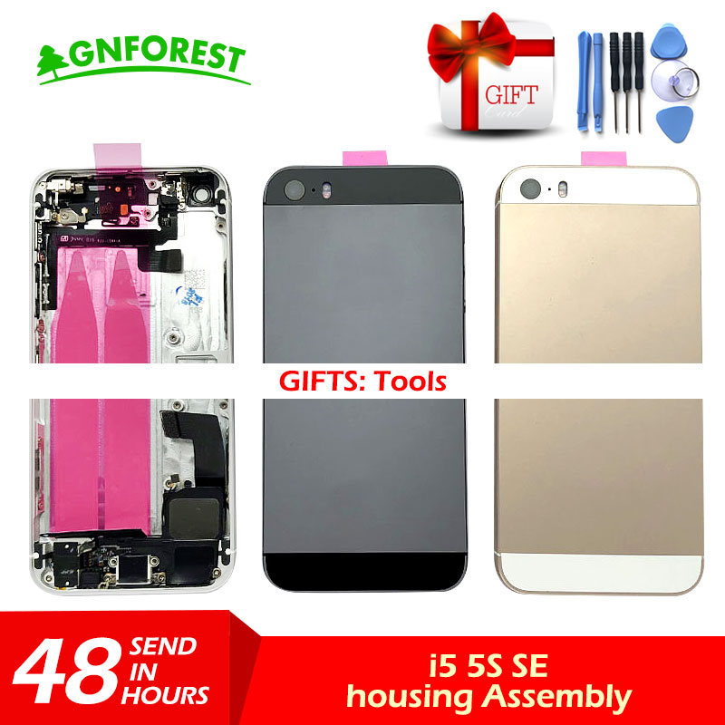 Housing iPhone Free-Battery-Sticker Rear-Door-Back for Middle-Frame-Chassis-Assembly