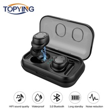 Stereo Sports Waterproof Earbuds TWS Bluetooth Earphone Magnetic Wireless With Mic Handsfree Touch Control