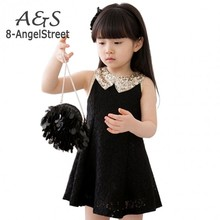 New Fashion 2016 Girls Clothes Tutu Dress Kids Clothing baby girls Dress princess dress Sequins Collar Black White