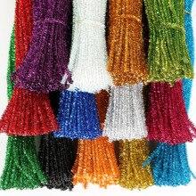 100 шт 30 см блестки стебли синели, очистители труб детские игрушки DIY ремесленные принадлежности для рукоделия детские развивающие игрушки