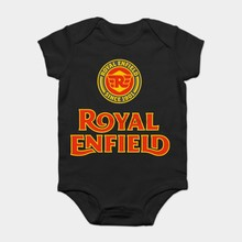 Baby Onesie Baby Bodysuits kid t shirt Limited Edition Royal Enfield Logo Black Size 12(China)