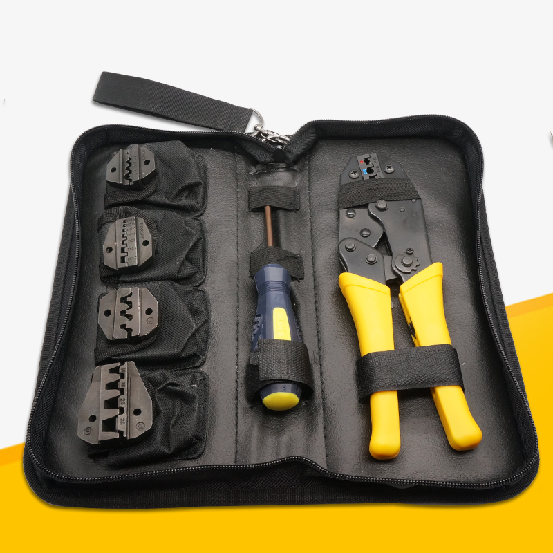 Alicate Crimpador Crimper Ratcheting Crimping Plier Tool Kit Set Insulated Non insulated Cable Wire Hand tool