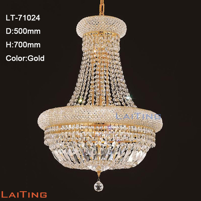 Laiting Lighting 71024 Dia 60cm Classic Gold K9 Foyer Crystal Chandelier Lighting Fixture for Living Room +Free shipping