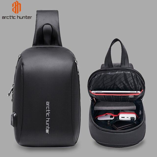 """Арктический Хантер мужская сумка с ремнем через плечо сумка Водонепроницаемый USB сумки через плечо для мужчин в стиле кэжуал Стиль Путешествия сумка нагрудная сумка подходит 9,7 """"iPad"""
