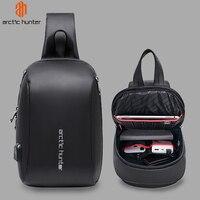ARCTIC HUNTER 081 Sling Bag Men Student Waterproof Messenger Shoulder Bag for Teenagers USB Charge Trip Crossbody Bags Male