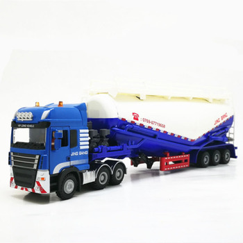 1 Camiones De 50 Escalas | 1:50 Escala Aleación Camión Remolque Tanque Vehículos Polvo Transportador Cemento Camión Alta Simulación Diecast Modelo Ingeniería Vehículo Juguete