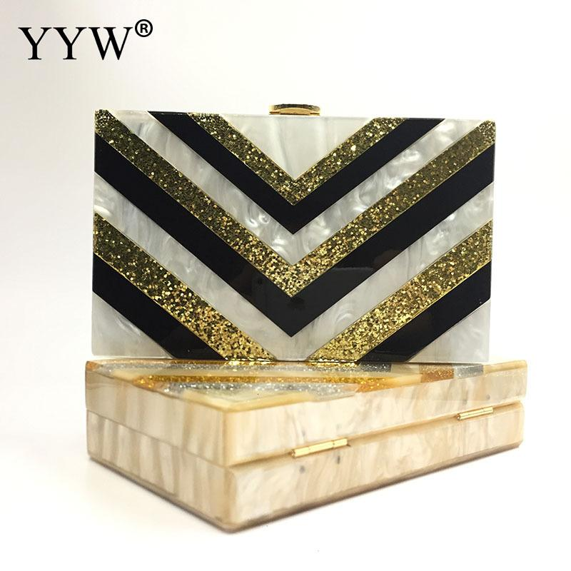 Luxury Women Bags Designer Evening Party Bag for Female Striped Clutch Bag Acrylic Mini Handbag Famous Brand Chain Crossbody Bag 2017 new mini shoulder messenger bag famous brand luxury elegant bead evening bag clutch pearl handbag bride bags for wedding
