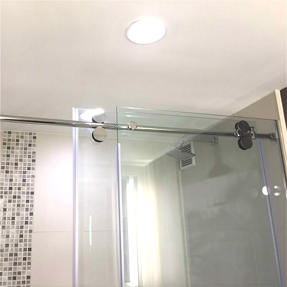 66ft Chrome Polished Bypass Frameless Sliding Glass Shower Door