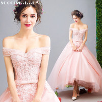 SOCCI Weekend 2017 Elegant Barbie Long Evening Dresses Strapless Formal Wedding Party Dress Sexy Prom Gowns