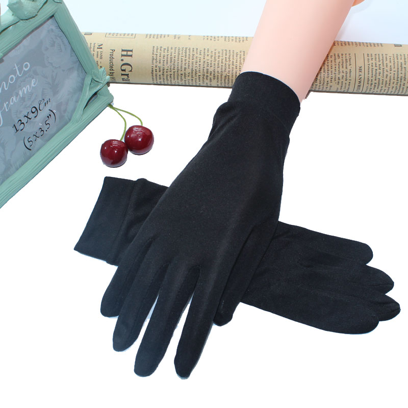 2018 100% Real Silk Gloves For Women's Spring Summer Gloves Soft Silky Female Sunproof Gloves Ladies Mittens Anti-UV Solid Color