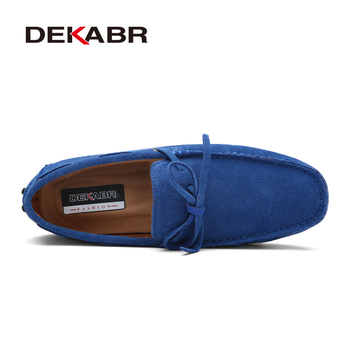 DEKABR Brand Big Size Cow Suede Leather Men Flats 2019 New Men Casual Shoes High Quality Men Loafers Moccasin Driving Shoes 1