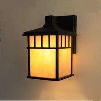 Искусство лампы открытый настенный светильник новых китайских квадратный непромокаемые уличные водонепроницаемые балкон лампа двор ZL528