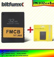 Cartão de memória mcboot grátis (fmcb) 32mb v 1.966 (nova versão e nova função) + 8/16/32/128/mb pacote de cartão de memória