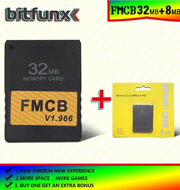 Free McBoot Memory Card (FMCB)32MB  v 1.966 (new version &new function)+8/16/32/128/MB memory card pack