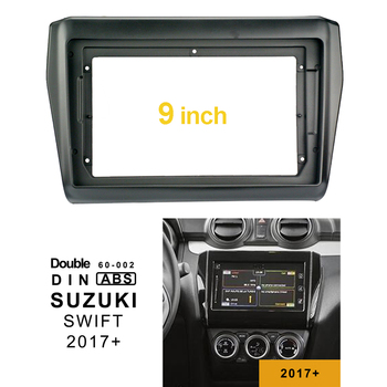 2Din 1Din Mobil CD DVD Bingkai Audio Pas Usb Dash Trim Facia Panel 9 Inch untuk Suzuki Swift 2017 + double Din Radio Pemain
