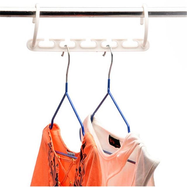 1 cái 3D Tiết Kiệm Không Gian Treo Quần Áo Kỳ Diệu Móc với Hook Closet Organizer Home Tool
