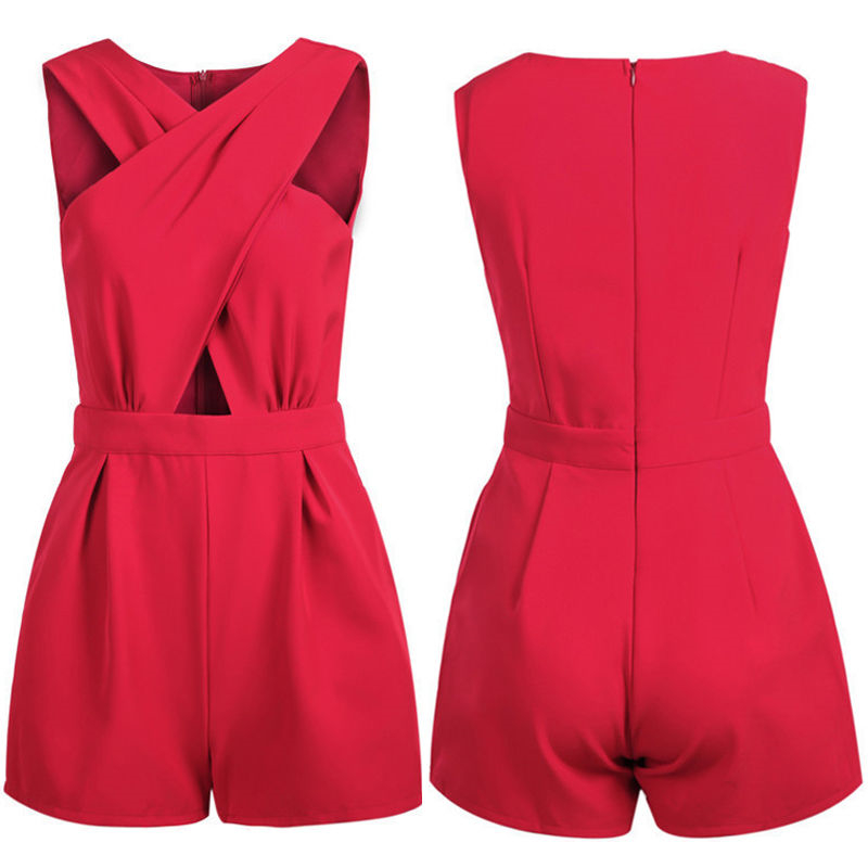 4eb6f5497088 2018 New Solid Sexy Womens Celeb Backless Playsuit Jumpsuit Romper Shorts  Summer Beach-in Jumpsuits from Women s Clothing   Accessories on  Aliexpress.com ...