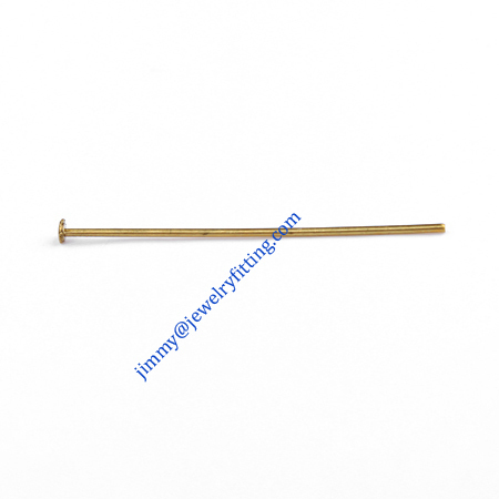Jewelry Making findings Raw brass metal Head Pins with Round end Scarf Pins jewellry findings 0.8*35mm shipping free