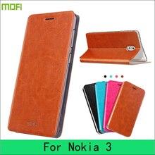 Для nokia 3 чехол MOFI оригинальный Высокое качество PU кожаный чехол для Nokia 3 Флип Защитные телефон случаях Обложка