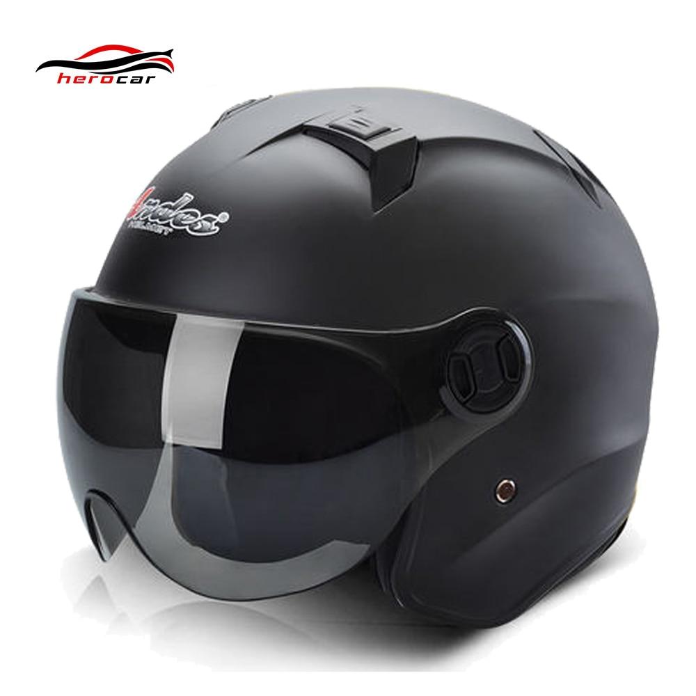 Motorcycle Helmet Motocross Helmet Summer Scooter 3/4 Open Face casque Motorbike Moto Helmets Flip Up Visor Lense for Men Women lady gaga