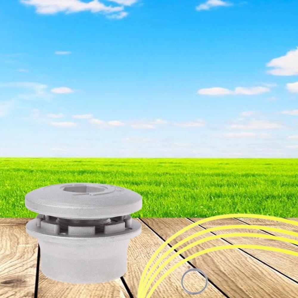 Aluminium Gras Trimmer Kopf mit 4 Nylon Linien Pinsel Cutter Kopf Für Strimmer