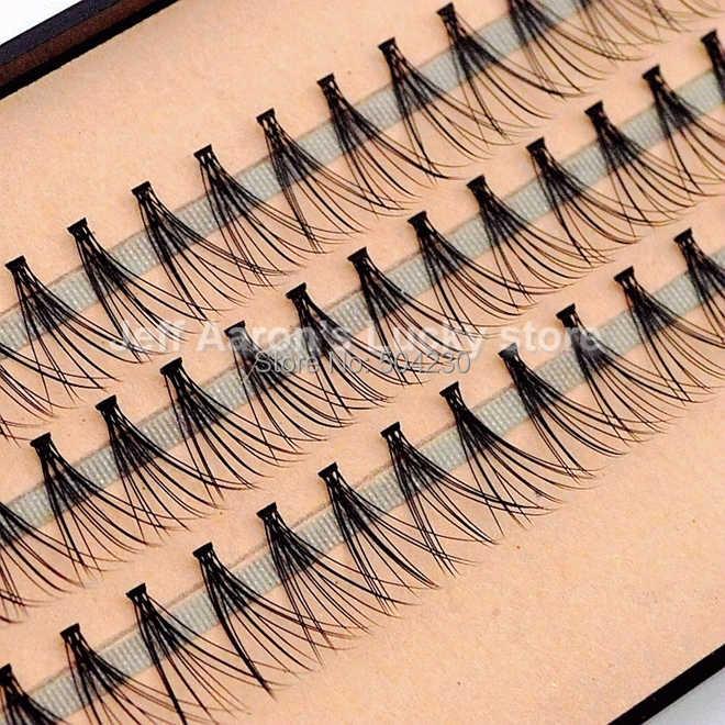 df4d7d33f46 4pcs/lot 57 Flare Black Individual False Eyelashes Tray Eye Lash Extension  Kit 14mm 12mm