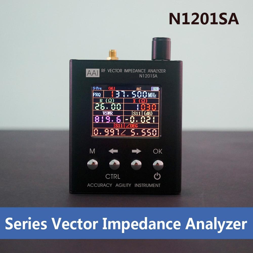 N1201SA 140MHz-2.7GHz UV RF Vector Impedance ANT SWR Antenna Analyzer Meter Tester vna 1m 3ghz vector network analyzer minivna tiny vhf uhf nfc rfid rf antenna analyzer signal generator swr s parameter smith