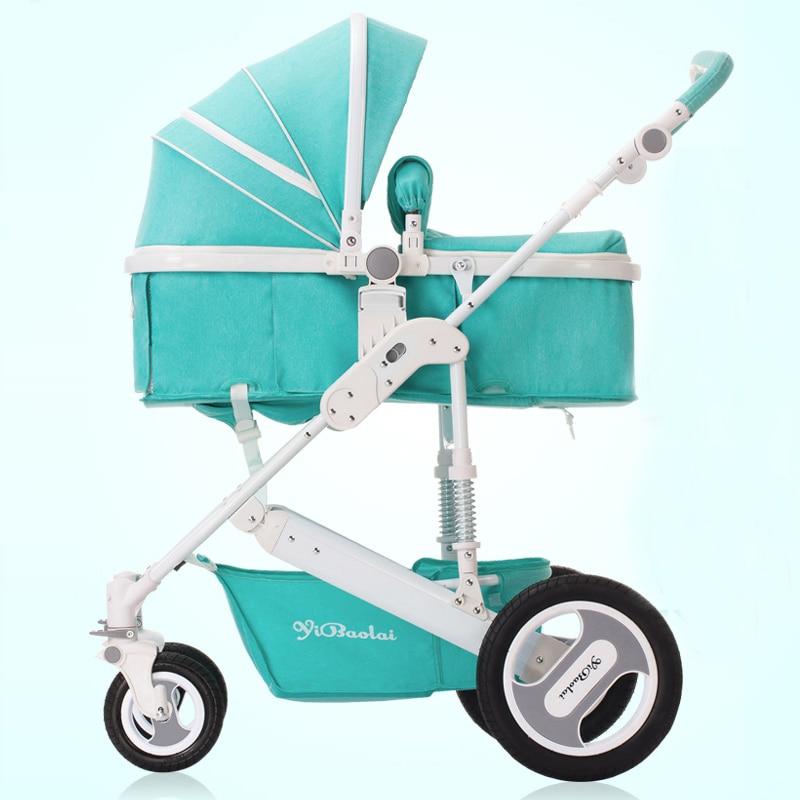 Ыбл ребенка тележка двунаправленный высокого вид амортизатор Детские коляски может сидеть в корзину