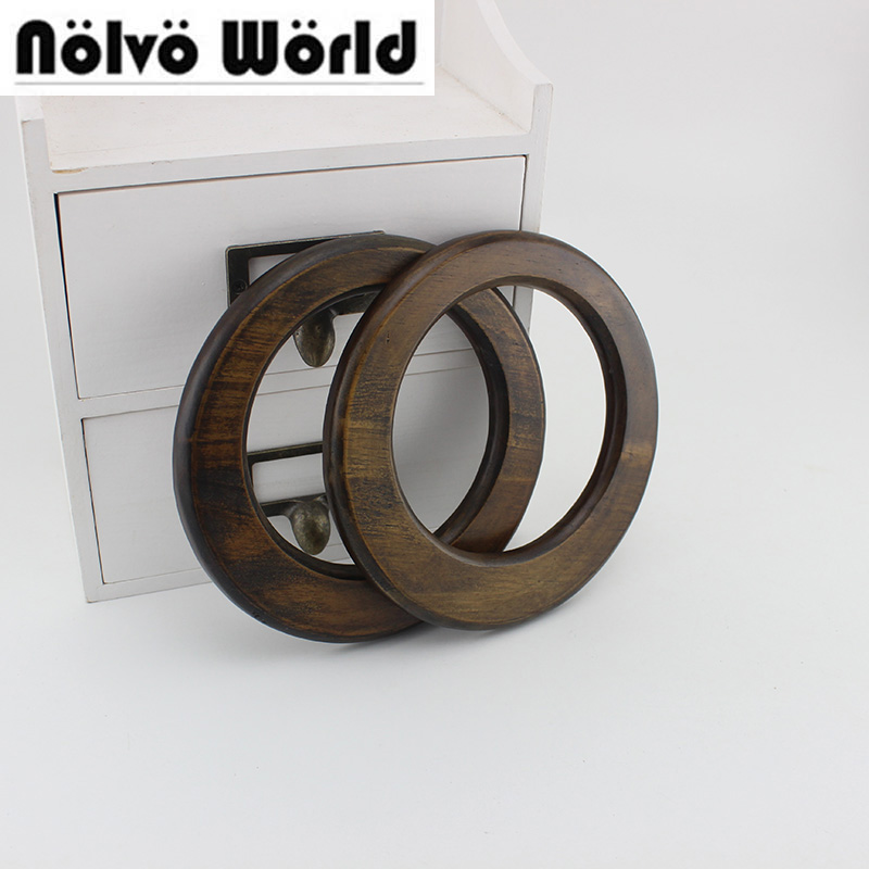 1 Pair=2 Pieces,15cm Tree Wood Vintage Uneven Brown Bags Handbags Handles,design Women Handbag Bag Purse Handle Parts