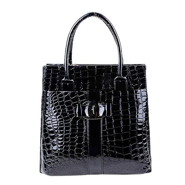 Luxury OL Style Lady Handbag Women Crocodile Pattern PU Leather Shoulder Bag WML99