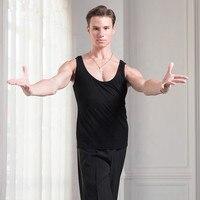 Latin Dance Adult Men's Vest Latin Men Bottoming Tops Vest Versatile Shirt Performance Competition Suit