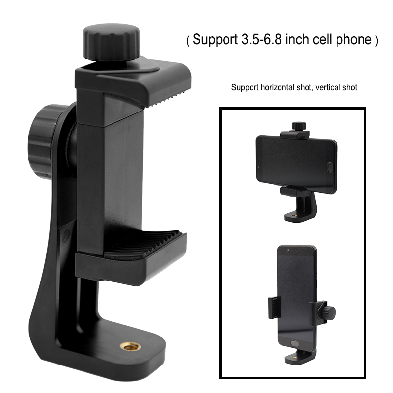 Tripod Mount/Cell Phone Clipper Vertical Bracket Smartphone Clip Holder 360 Adapter For iPhone Samsung Mobile Cell Phone 360 degree car auto rearview mirror mount cell phone holder bracket stands