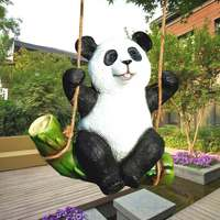 The Koala Panda Statue Garden Ornaments Animal Sculpture Crafts Decorative Outdoor Garden Rockery Decoration Resin Swing Figure