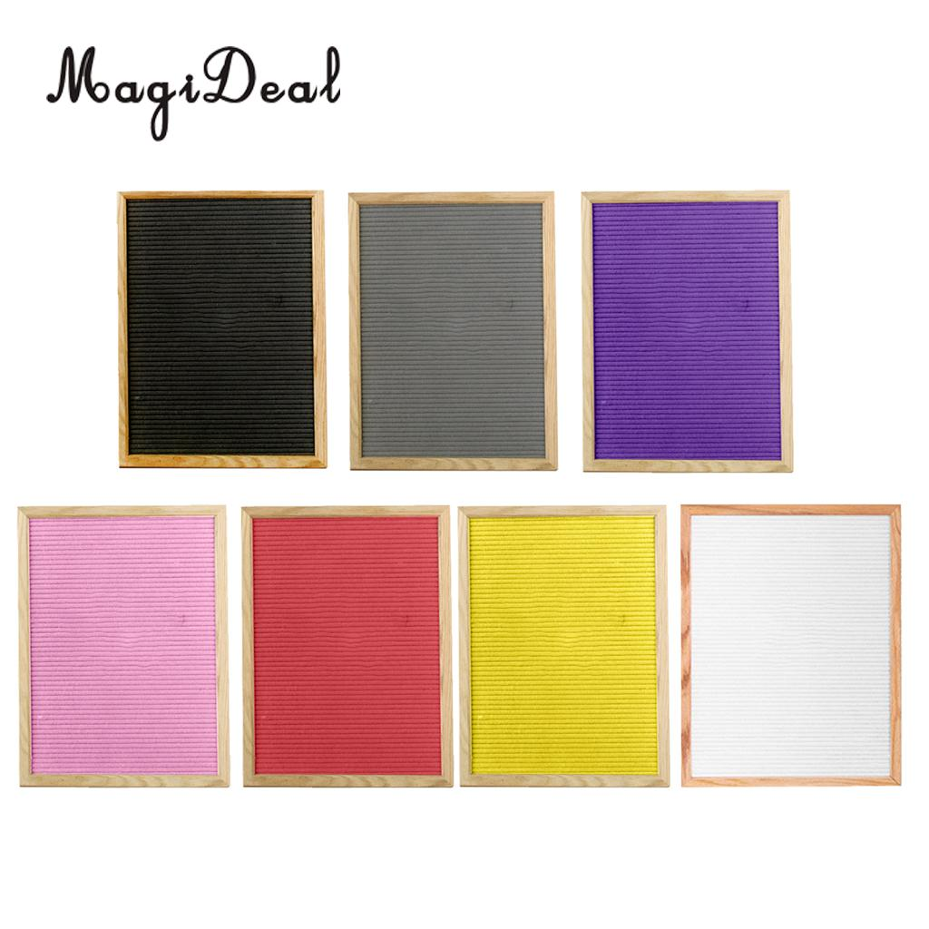 MagiDeal Large Felt Letter Board Changeable Wooden Message Board Sign, Wall Mounted