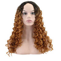 JOY&BEAUTY Hair Medium Long Red Black Gray Afro Wig Kinky Curly Wigs for Black Women Blonde Mixed Brown 280g Synthetic Wigs