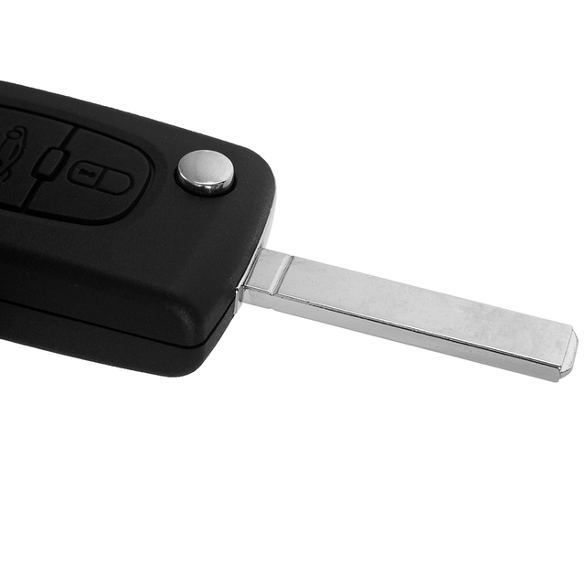 Chiave Telecomando  Peugeot 307 407 308 607 433MHz Electronic ID46 Chip VA2 Blade CE0536  3 Tasti 2