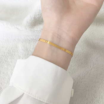 18K Pure Gold Bracelet Real AU 750 Solid Gold Bangle Good Beautiful Upscale Trendy Classic Party Fine Jewelry Hot Sell New 2020 5