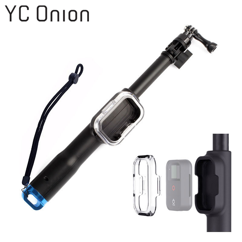 39 Inch Waterproof Selfie Stick for Gopro Hero 7 6 5 4 3 Session Camera With WIFI Remoter Clip For Go Pro Monopod Accessories