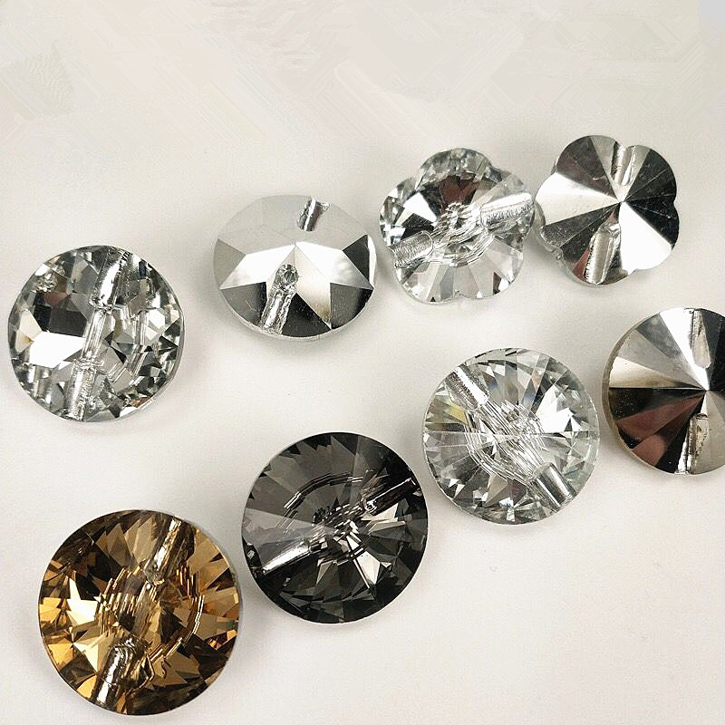 Junao 13mm Clear Rhinestones Buttons Sew On Round Acrylic Button Point Crystal Stones For Clothes Shirt Decoration Accessory Arts,crafts & Sewing
