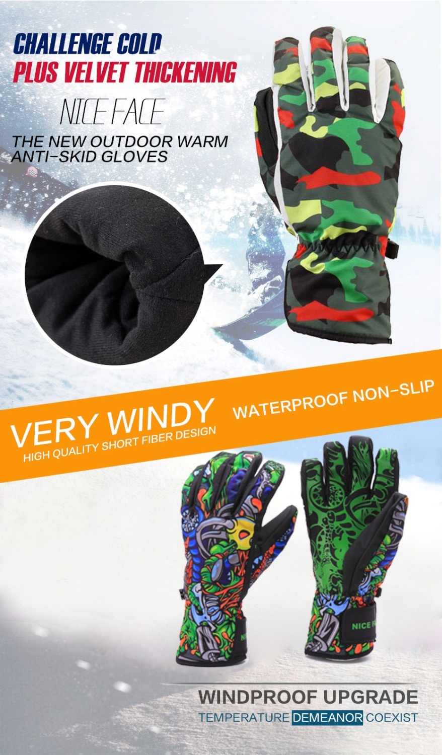 gloves snowboard