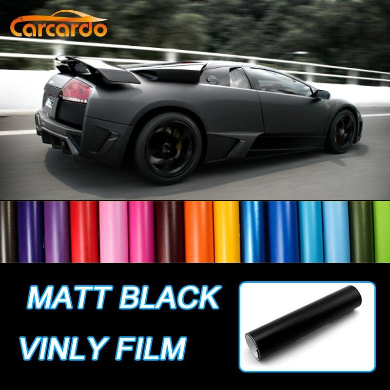 Царцардо 1,52Мк50цм мат црни винилни филм наљепница за аутомобиле винил омот мат, винилне наљепнице за аутомобил, амбалажа за мат мат наљепнице ауто винил