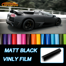 1 PC 1.52Mx50cm Matt Black Vinyl Film car wrap Matte vinyl car sticker many color option FREE SHIPPING hoho premium multi color chrome holographic vinyl wrap rainbow laser vinyl film bubble free car sticker 1 49m x 2m