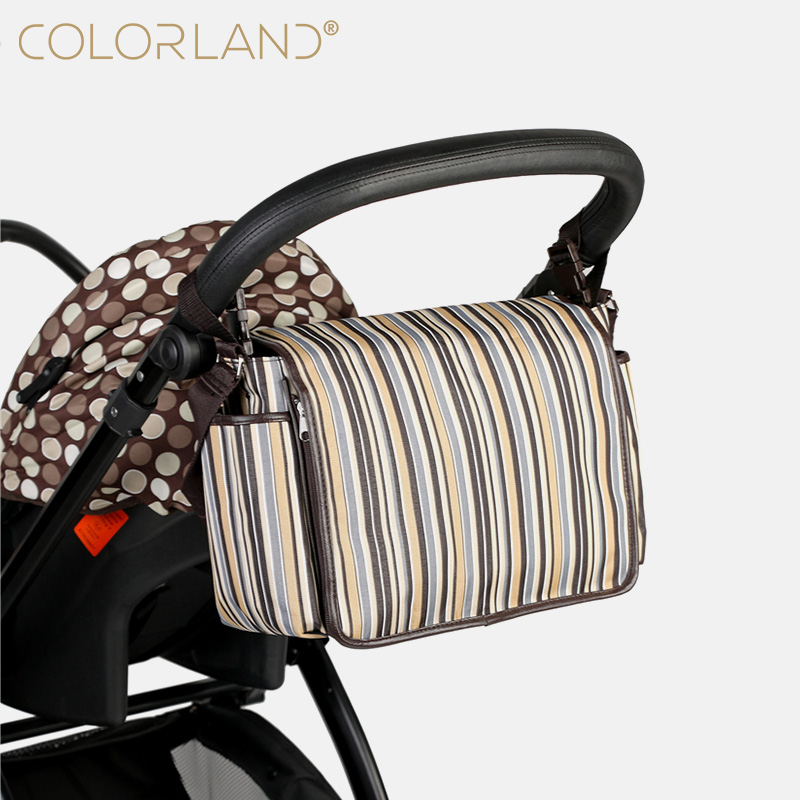 COLORLAND hot sale Baby Diaper Nappy Portable Small Bags Stroller Bag For Mother& Baby Maternity Changing Capacity Handbag