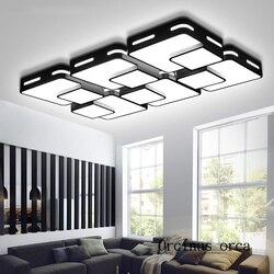 Nordic nowoczesny kompaktowy led lampy sufitowe salon sypialnia kreatywny osobowość prostokątne lampy sufitowe darmowa wysyłka