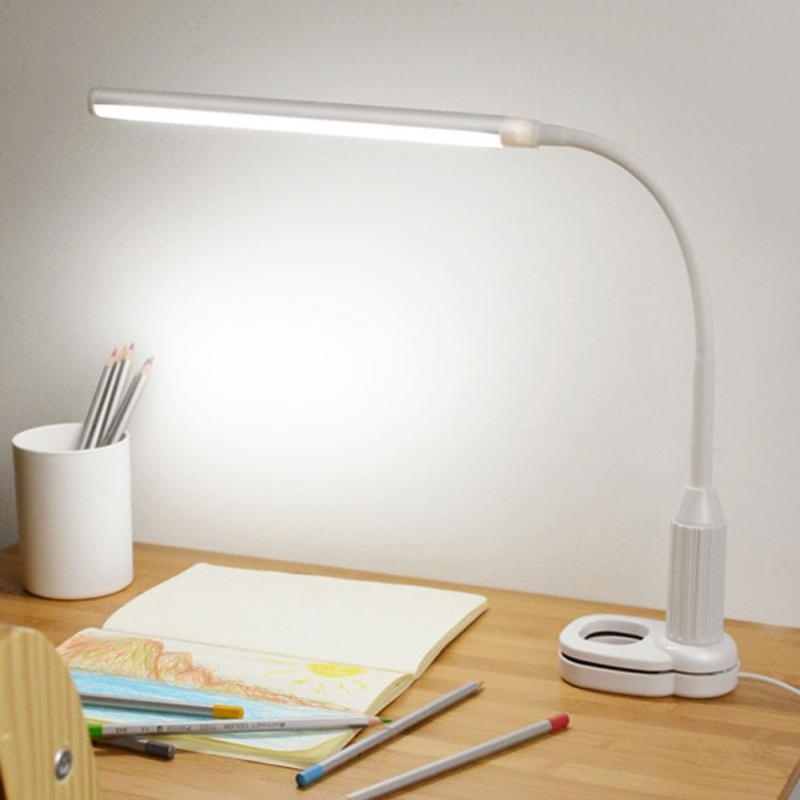 купить USB Powered Clamp Clip Light 5W 24 LEDs Table Lamp Touch Sensor Control Flexible Lamp Desk Reading Working Studying Table Lamp по цене 616.74 рублей