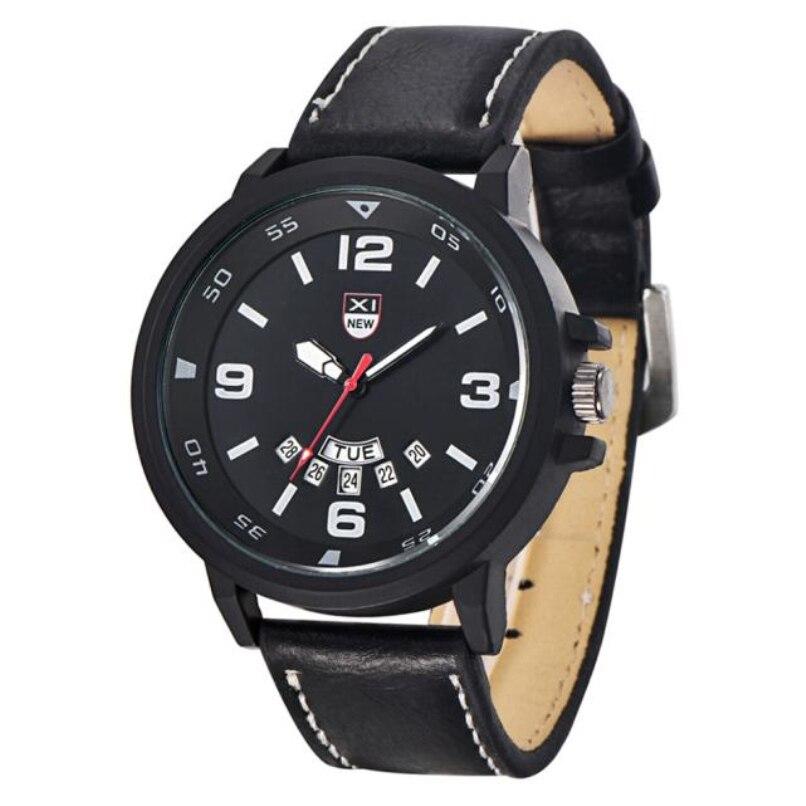 Moda Pulseira de Couro Relógios Militares dos homens Do Esporte À Prova D' Água Relógio Analógico Quartz Date Relógio de Pulso por atacado