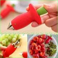 Практичный мини-инструмент для удаления чашелистиков с клубники томатные стебли Машинка для удаления сердцевины из фруктов Стебель Листья жидкость для снятия Ножи Кухня инструменты